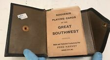 Souvenir Playing Cards of The Great Southwest Leather Case Fred Harvey Kansas Ci