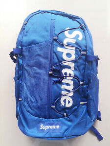 HOT Supreme 17ss Blue Backpack Waterproof Box Logo Mountaineering Bags Travel