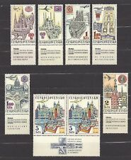 Czechoslovakia 1967 MNH ** Mi 1738-1744 Zf Sc C59-C65 AIR POST STAMPS Complete c