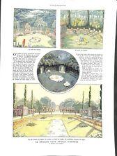 Jardin des oiseaux des abeilles de Achille Duchêne Paysagiste ILLUSTRATION 1932