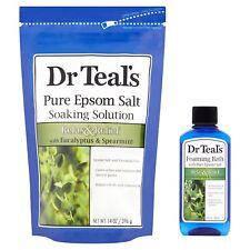 Dr Teal's Relax with Eucalyptus & Spearmint Epsom Salt Soak & Foaming 2 piece