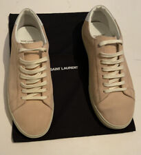 Saint Laurent Paris Mens Pink Suede Sneakers SL /06 Size UK 9.5 Made In Italy ..