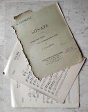 Pianelli Sonate en sol majeur pour violon et piano, partition ancienne