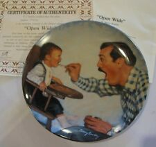 1984 Collector Plate Open Wide 1st Issue A Fathers Love Series Betsey Bradley