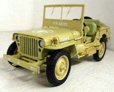 Triple9 1/18 Scale Willys Jeep Casablanca Desert sand US Army diecast model car