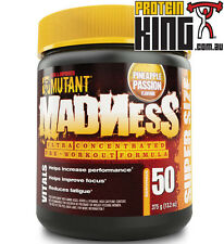 MUTANT MADNESS 375G PINEAPPLE PASSION PRE WORKOUT FOR OPTIMUM ENERGY & FOCUS