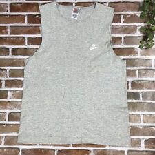 Nike Tank Top Vintage Mens Gray Muscle Shirt Made In USA Large 90s