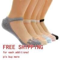 NEW Women Cute Ultrathin Transparent Crystal Silk Lace Elastic Short Ankle Socks