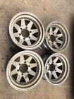 4-vintage 15x8.5 Chevy Gmc Toyota 6 Lug Aluminum 8 Spoke Wheels 6x5.5 Bolt Ptn