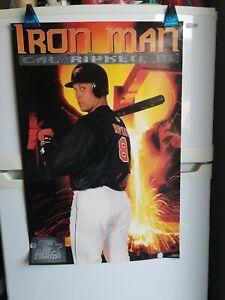 """Vintage 1996 Cal Ripken Jr IRON MAN Poster Starter Orioles Baseball HOF 23"""" x 35"""