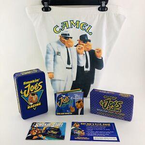 Vintage Joe Camel Promotional Fleece Shorts Size Large & Joe Racing Tin Matches