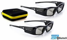 2x 3d lunettes Hi-shock ® BT pro Black Diamond pour samsung, sony & sharp tv 's active
