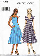 VOGUE SEWING PATTERN 9101 MISSES SZ 6-14 DRESS W/ FITTED BODICE & FLARED SKIRT