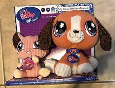 Littlest Pet Shop VIP Friends Beagle Puppy & Mouse Plush Figures 2008 New in box