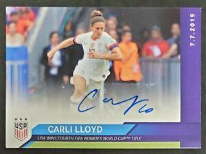 2019 Panini Carli Lloyd #15 GREEN USWNT 12/15 Autograph World Cup 2020 TOKYO