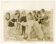 HARRY LANGDON with BATHING BEAUTIES original movie photo 1924 PICKING PEACHES