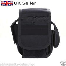 Metal Detecting Finds, Multi Pocket, Add On Belt/Hip Mount Accessory Pouch.Black