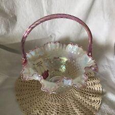 Fenton Opalescent Pink/lavender Basket