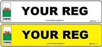 Pair of 3D Welsh MOT UK Road Legal Car Van Reg Registration Number Plates