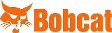 "BOBCAT LOGO DIE CUT DECAL/STICKER - 8.75""X2.75"" - SET OF 2 - ORANGE"