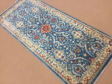"Persian Oriental Rug Runner Oushak Hand Knotted Light Blue Beige 2'.8"" X 6'.4"""