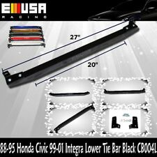 EMUSA Lower Tie Bar FOR 1988-1990 1991-1995 Honda Civic 1999-2001 Integra BLACK