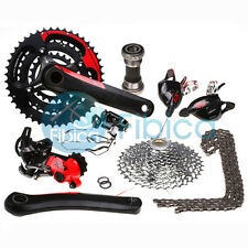 New SRAM X9 X.9 Type 2 Lockout RD MTB Bike Groupset Group set 3x10-speed Red