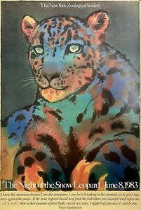 """Original Vintage Poster Milton Glaser The Night of the Snow Leopard 36"""" X 24"""""""
