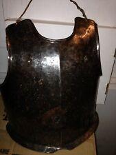 17th C English Cuirass WW Monogram breastplate armor antique medieval
