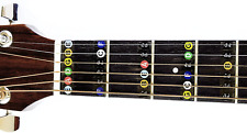 Guitar Fret Stickers- Color Coded- for Fretboard Note Positions