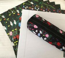 Cynthia Rowley matching office supplies, 4 folders, 1 pad, and 1 pencil case