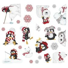 Penguins Polar Bears Seals WALL DECALS 22 ARCTIC ANTICS Stickers Christmas Decor
