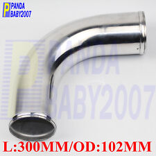 "ALUMINUM 90 DEGREE ELBOW 4"" INCH 102MM TURBO INTERCOOLER PIPE L=300MM POLISHING"
