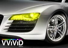 Bright yellow headlight foglight taillight tint film 25ft x5ft wrap VViViD Vinyl