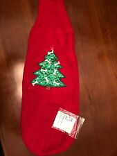 Lighted Christmas Dog Sweater L/XL Red Knit w Christmas Tree Lights NWT