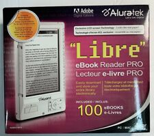 Aluratek Libre eBook Reader AEBK01WFS (Adobe Digital  Editions) 100 E Books New!