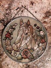 Painted Stained Glass Horse Suncatcher