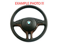 BMW X5 Series E53 NEW Black Leather Sport Steering Wheel 3 Spoke M-tricoloured