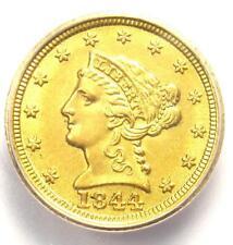 1844-D Liberty Gold Quarter Eagle $2.50 - ICG MS60 Detail (UNC) Dahlonega Coin!