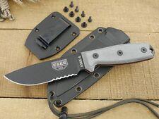 Couteau de Survie ESEE Model 4 Lame Acier 440C Serr Manche Micarta USA ES4SB