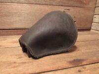 Vintage RARE US Leather Horse Stirrup Prewar Military Wood Base
