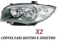 COPPIA FARI PROIETTORE ANTERIORE FANALE SX - DX BMW SERIE 1 E87 DAL 2004 AL 2007