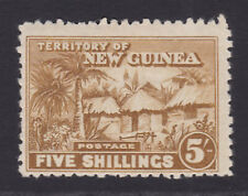New Guinea. SG 134, 5/- bistre. Mounted mint.