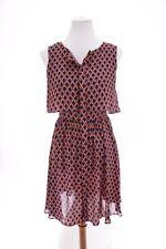 Ark & Co Anthropologie Fit and Flare Shirt Dress Geometric Print Sz Medium