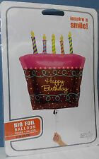 "PALLONCINO TORTA GIGANTE HAPPY BIRTHDAY 79 cm. 31"" MYLAR PARTY FESTA COMPLEANNO"