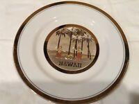 Chokin Art Japanese Gold Trim Hawaii Porcelain Plate Collectible