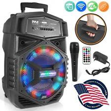 Pyle PPHP126 12'' Portable Bluetooth PA Speaker System DJ LED Light 1000 Watt