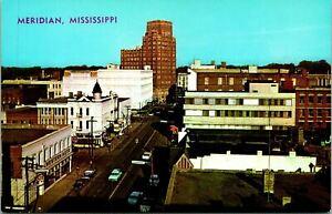 Meridian MS Business District View Postcard Unused (31885)