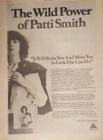 Patti Smith Horses 1975 press advert Full page 28 x 39 cm poster