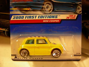 Hot Wheels Mini Cooper 2000 First Editions 30 of 36 Yellow
